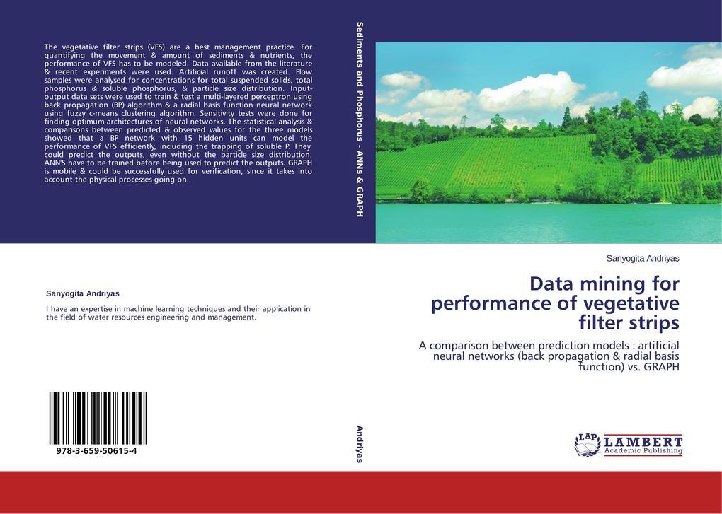 Data mining for performance of vegetative filte...