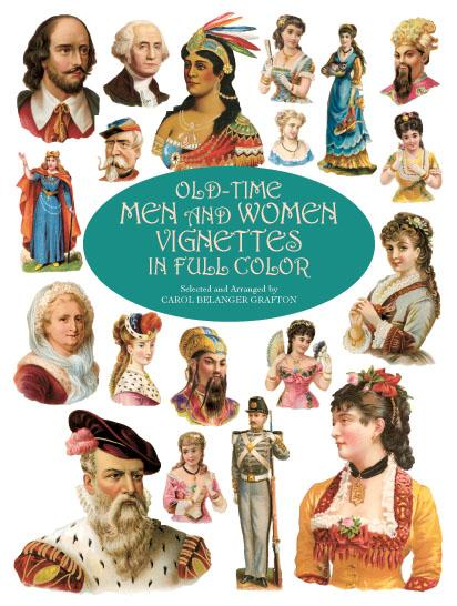 Old-Time Men and Women Vignettes in Full Color ...
