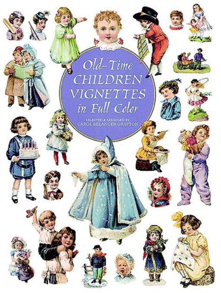 Old-Time Children Vignettes in Full Color als e...