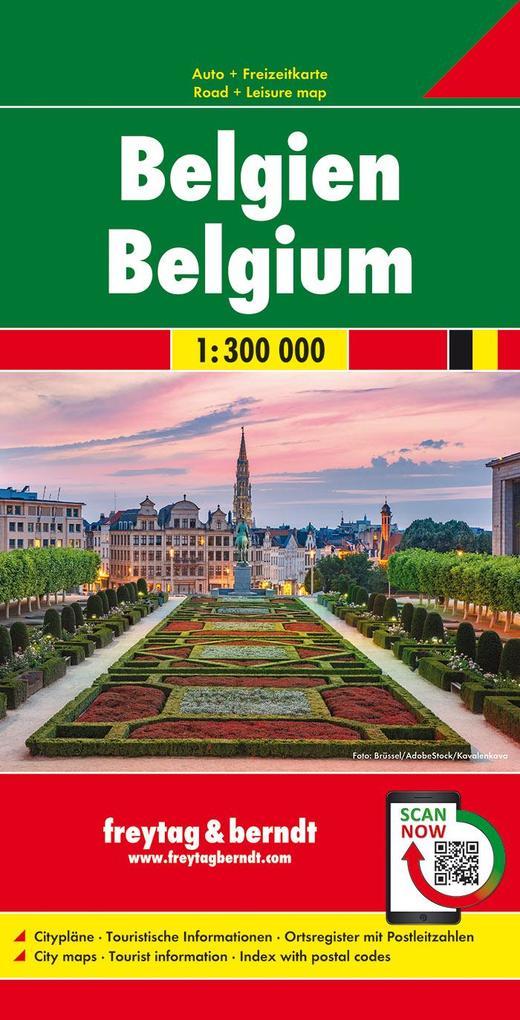 Belgien 1 : 300 000. Autokarte als Blätter und Karten