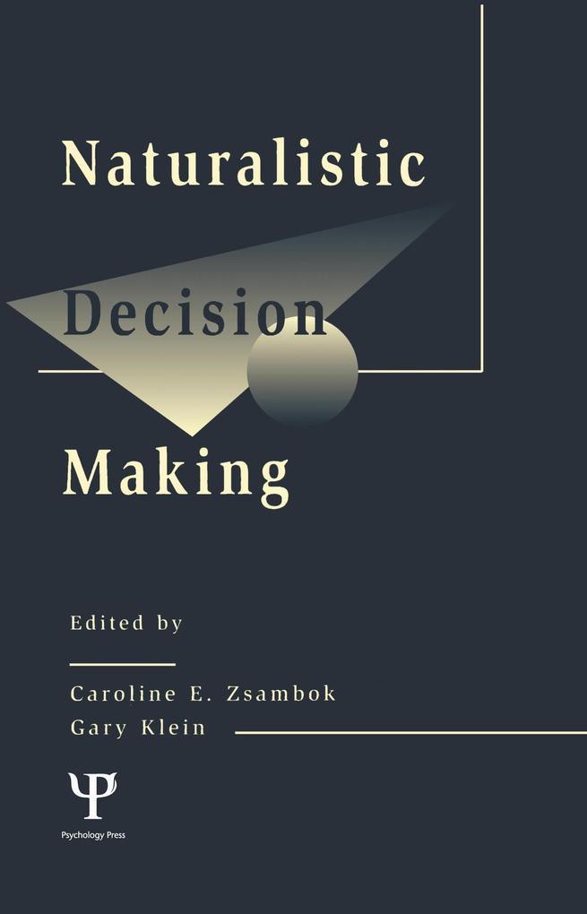 Naturalistic Decision Making als eBook Download...