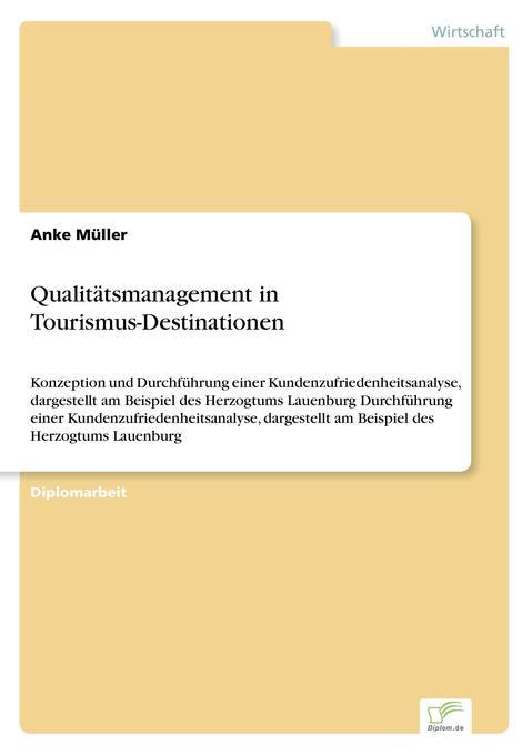 Qualitätsmanagement in Tourismus-Destinationen ...