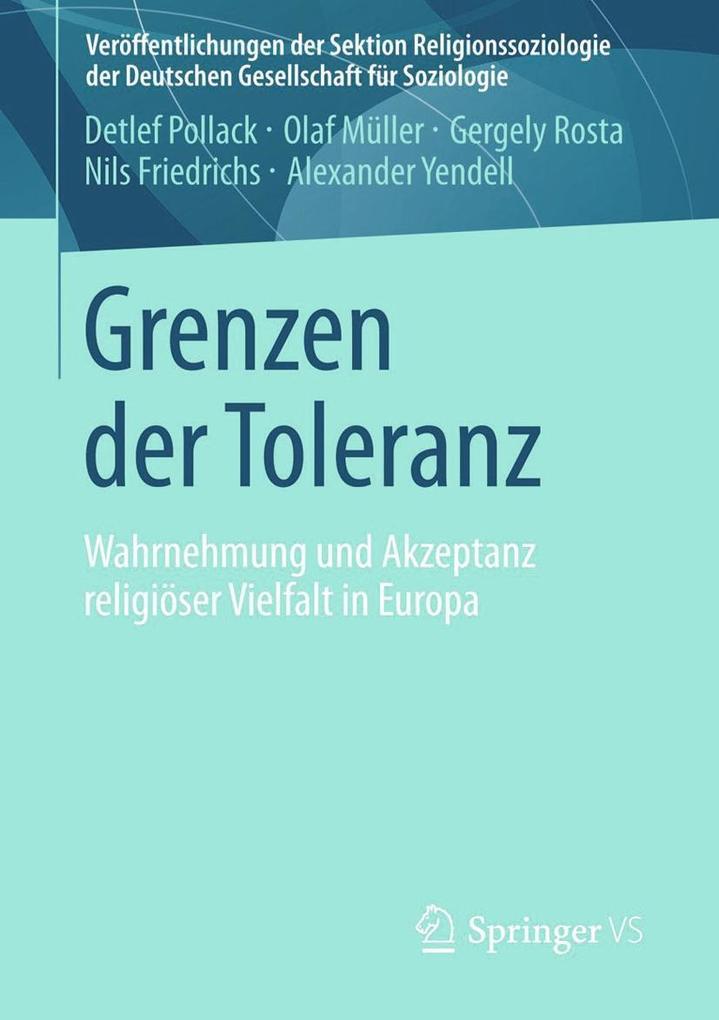 Grenzen der Toleranz als eBook Download von Det...
