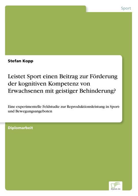 Leistet Sport einen Beitrag zur Förderung der k...