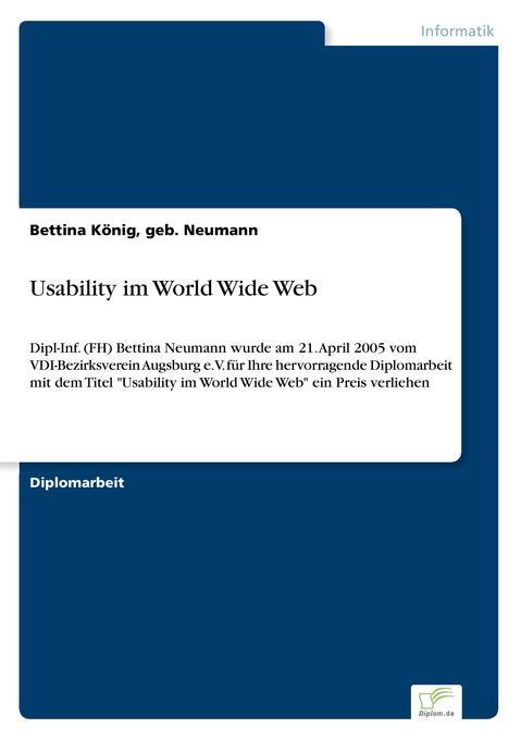 Usability im World Wide Web als Buch von geb. N...