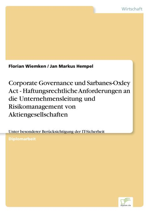 Corporate Governance und Sarbanes-Oxley Act - H...