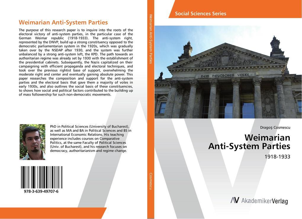 Weimarian Anti-System Parties als Buch von Drag...