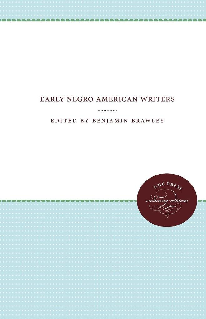 Early Negro American Writers als Taschenbuch