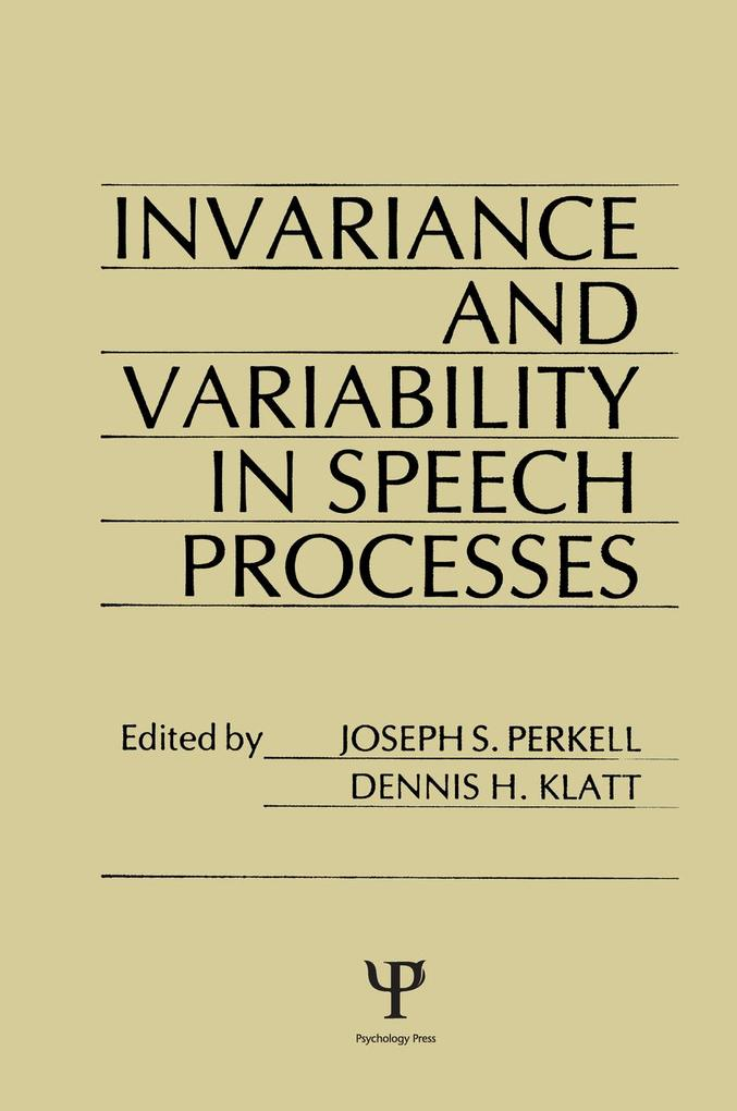 invariance and Variability in Speech Processes als eBook epub