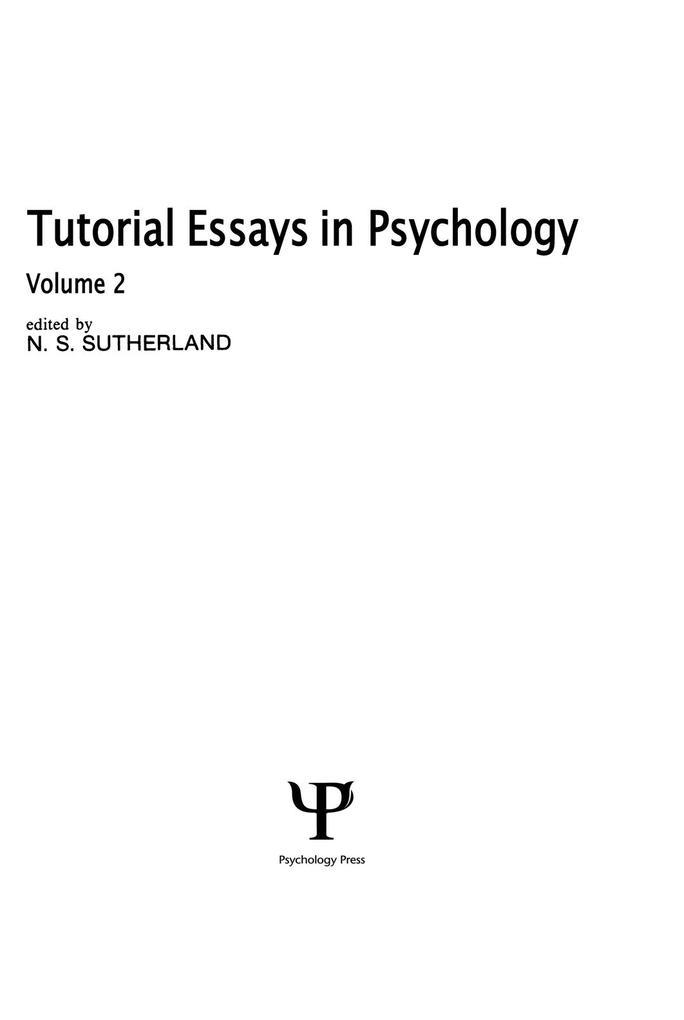 Tutorial Essays in Psychology als eBook epub