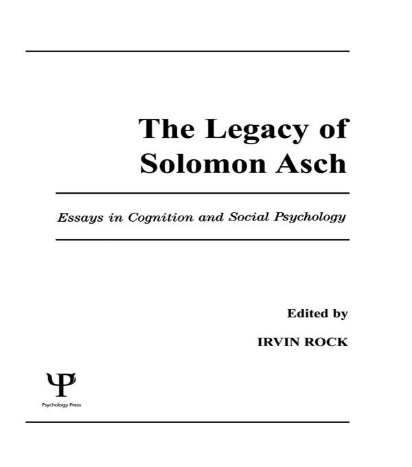 The Legacy of Solomon Asch als eBook pdf