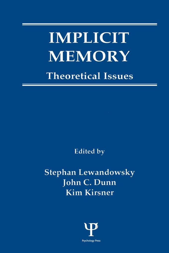 Implicit Memory als eBook epub