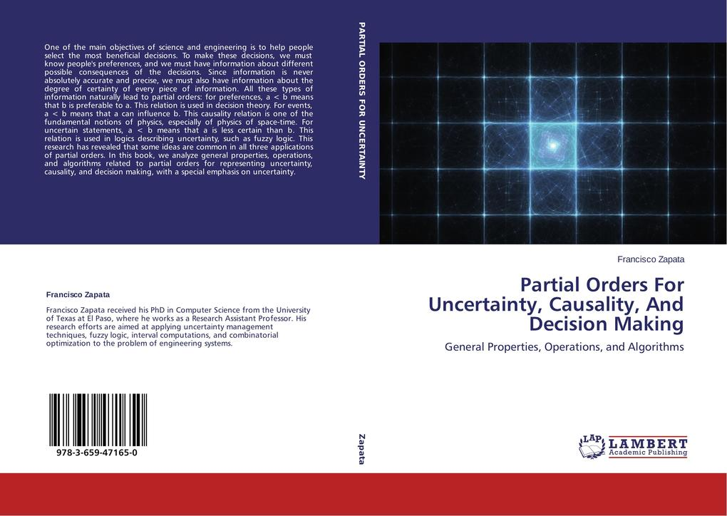Partial Orders For Uncertainty, Causality, And Decision Making als Buch (gebunden)