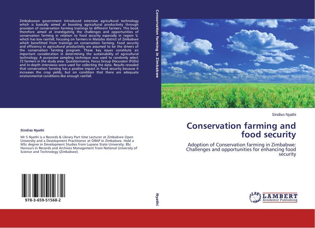 Conservation farming and food security als Buch (gebunden)