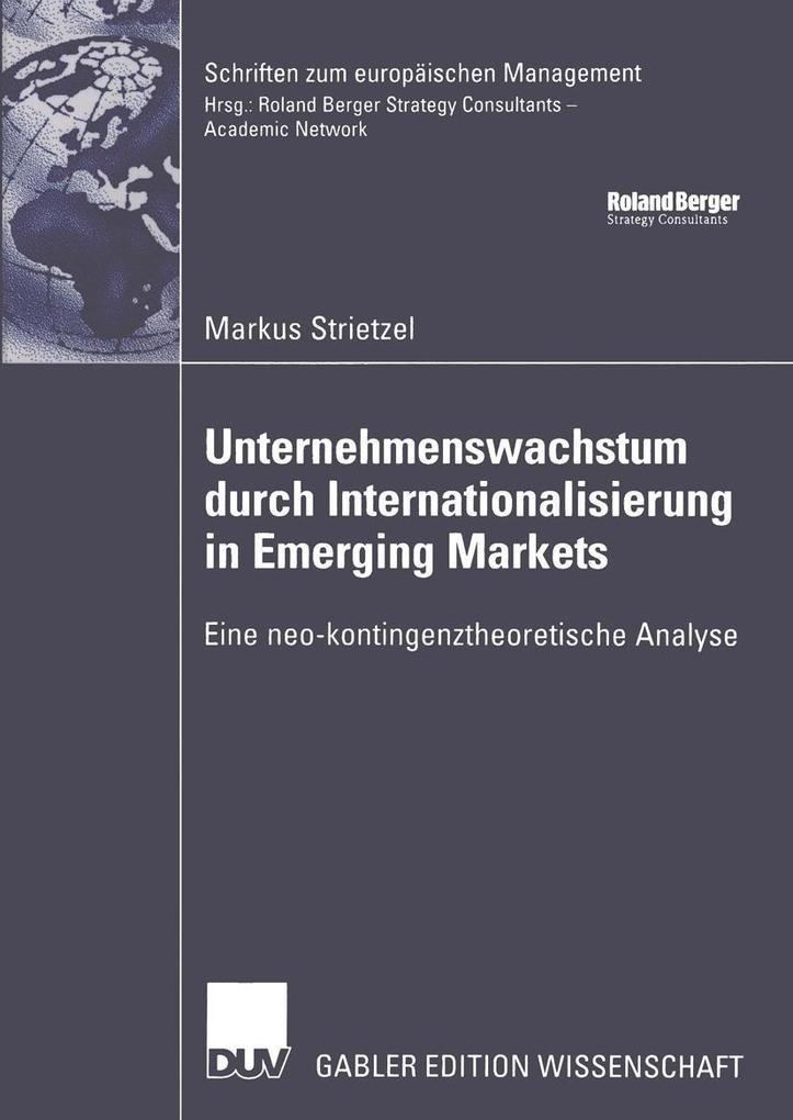 Unternehmenswachstum durch Internationalisierung in Emerging Markets als eBook pdf