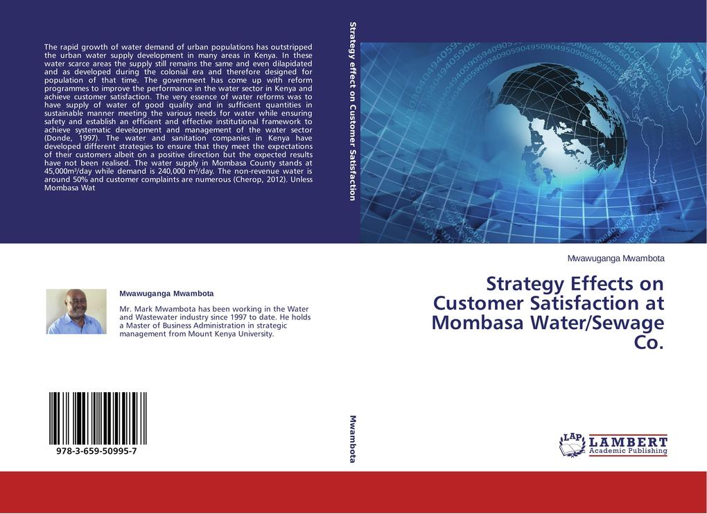 Strategy Effects on Customer Satisfaction at Mombasa Water/Sewage Co. als Buch (gebunden)