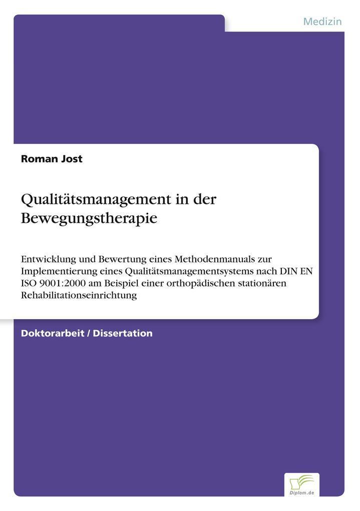 Qualitätsmanagement in der Bewegungstherapie al...