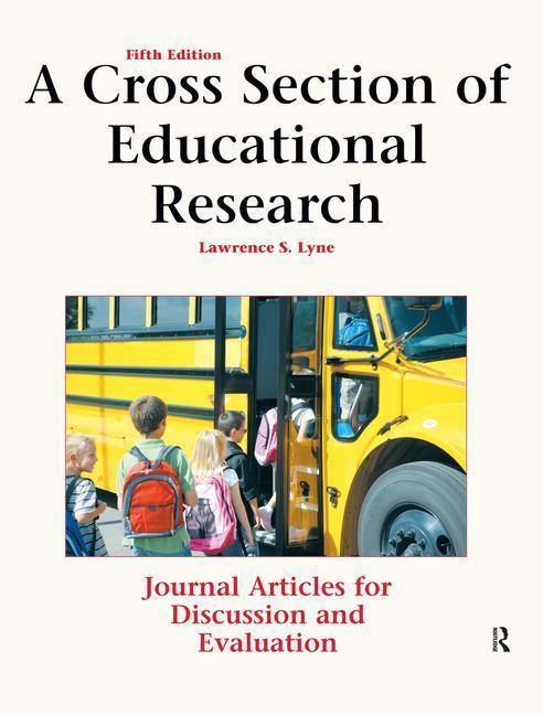 A Cross Section of Educational Research als Taschenbuch