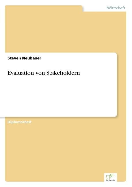 Evaluation von Stakeholdern als Buch (gebunden)