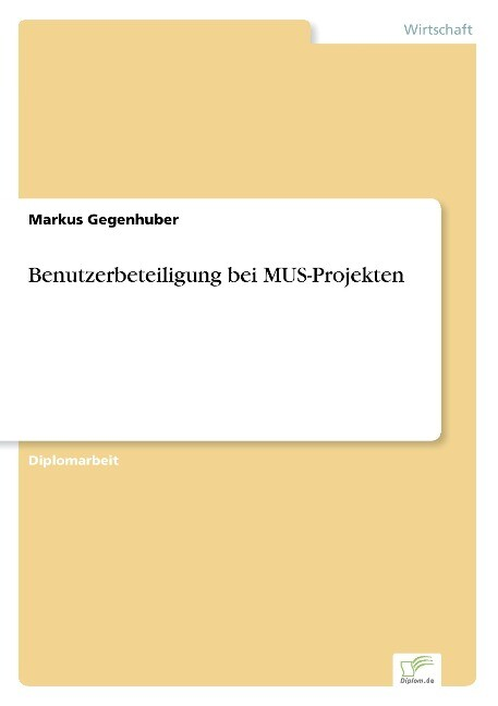 Benutzerbeteiligung bei MUS-Projekten als Buch ...