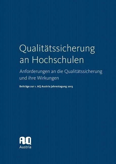 Qualitätssicherung an Hochschulen als Buch von