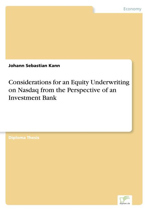 Considerations for an Equity Underwriting on Na...