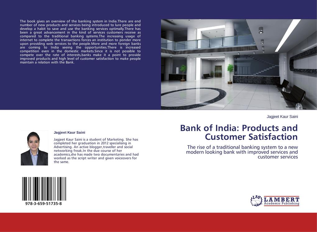 Bank of India: Products and Customer Satisfaction als Buch (gebunden)