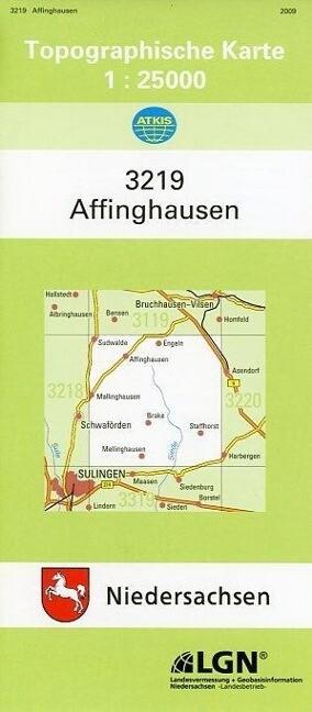 Affinghausen 1 : 25 000 als Buch
