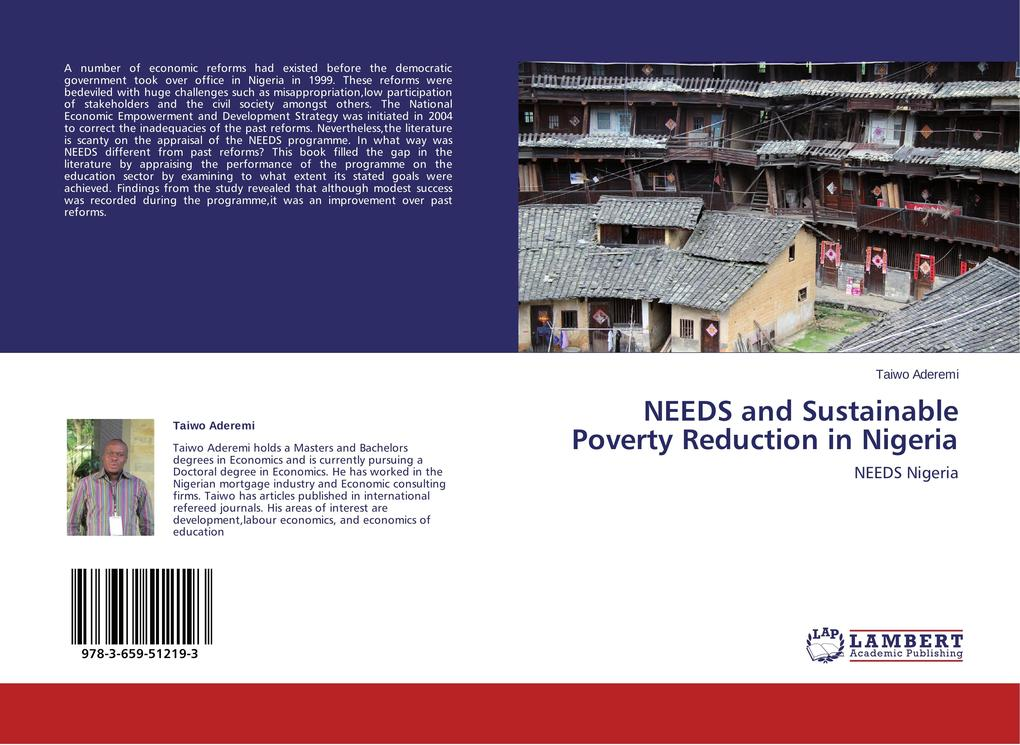 NEEDS and Sustainable Poverty Reduction in Nigeria als Buch (gebunden)