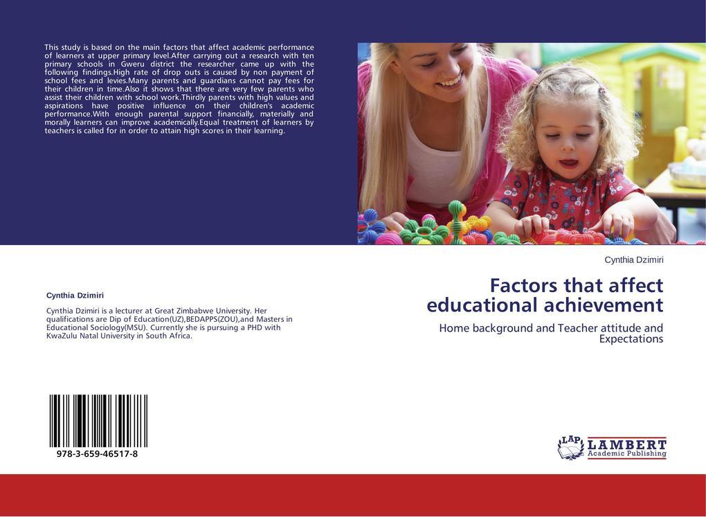 Factors that affect educational achievement als Buch (gebunden)