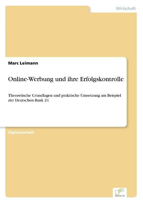 Online-Werbung und ihre Erfolgskontrolle als Bu...