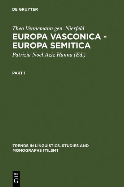 Europa Vasconica - Europa Semitica als Buch