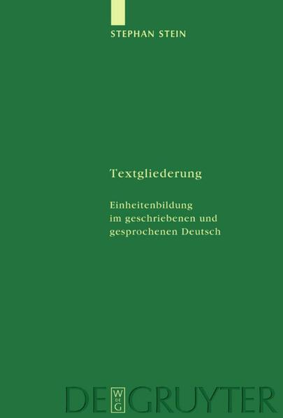 Textgliederung als Buch