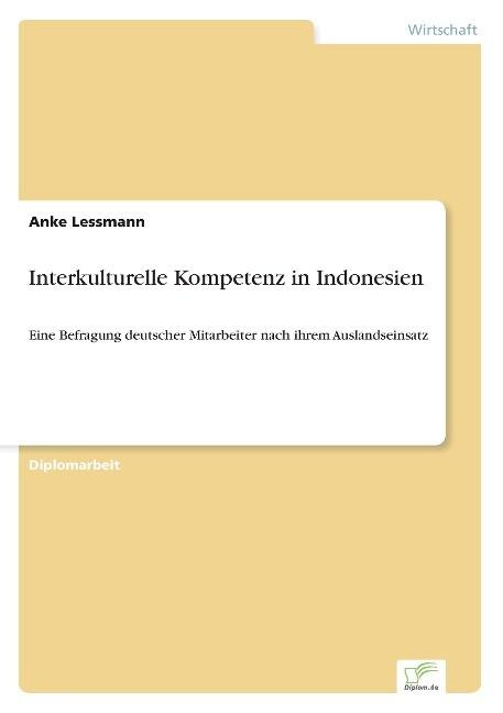 Interkulturelle Kompetenz in Indonesien als Buch (gebunden)