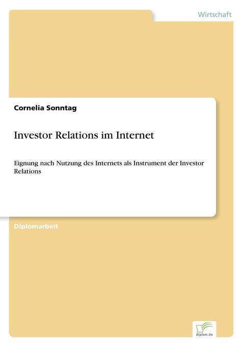 Investor Relations im Internet als Buch (gebunden)