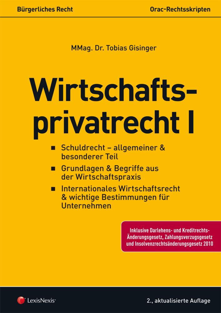Wirtschaftsprivatrecht I als Buch von Tobias Gi...