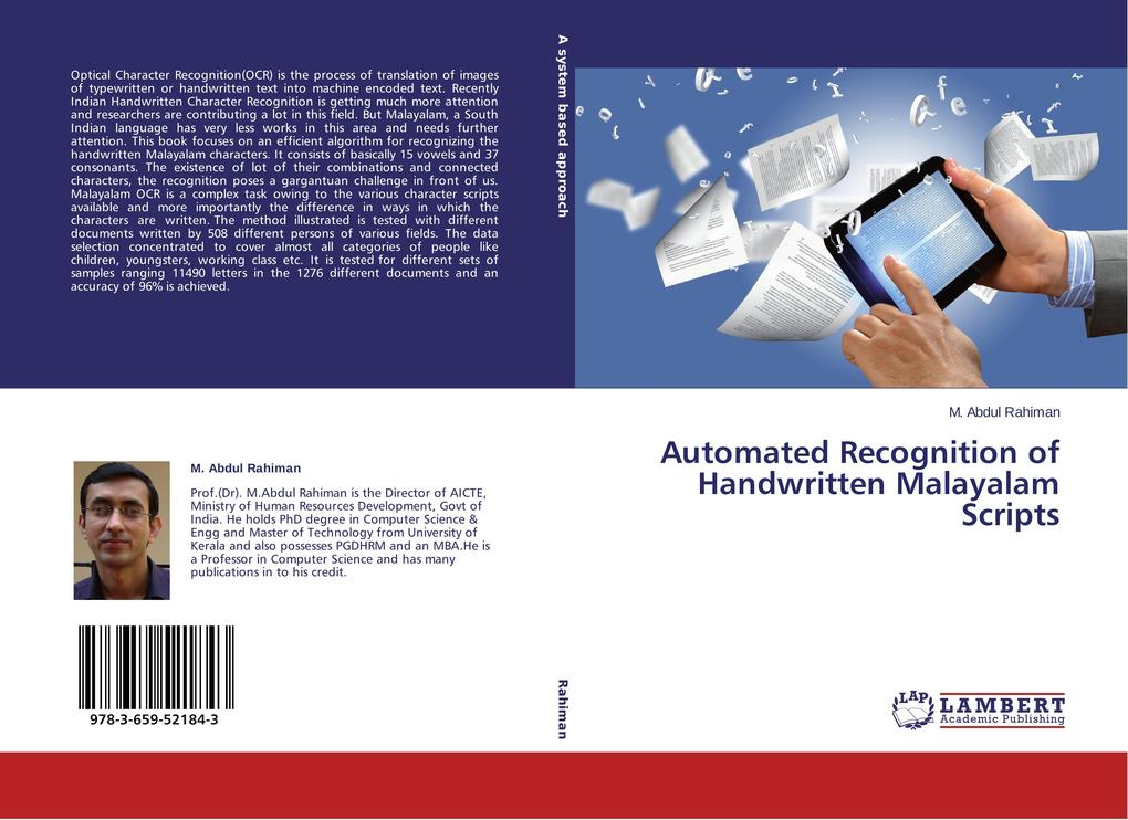 Automated Recognition of Handwritten Malayalam Scripts als Buch (gebunden)