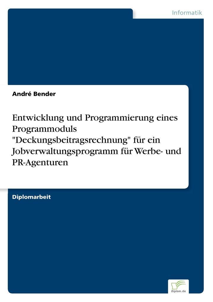 Entwicklung und Programmierung eines Programmod...