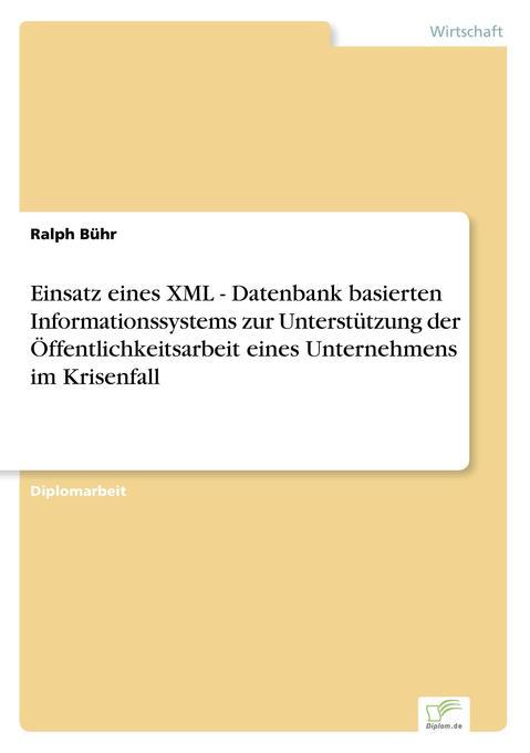 Einsatz eines XML - Datenbank basierten Informa...