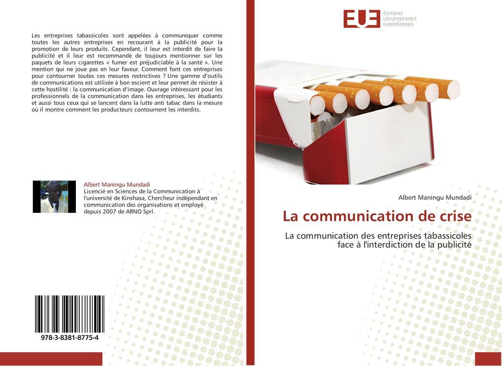 La communication de crise als Buch (gebunden)