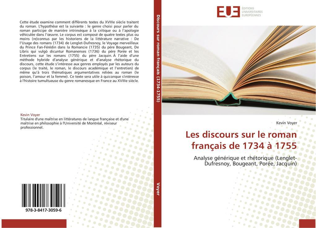 Les discours sur le roman français de 1734 à 1755 als Buch (gebunden)