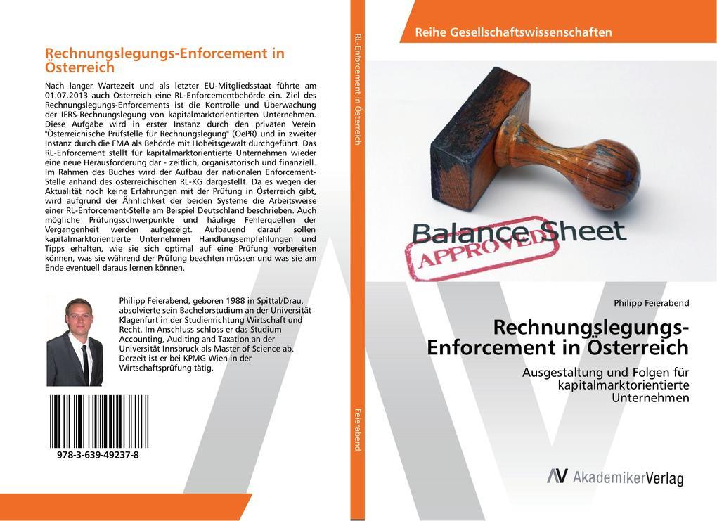 Rechnungslegungs-Enforcement in Österreich als Buch (gebunden)