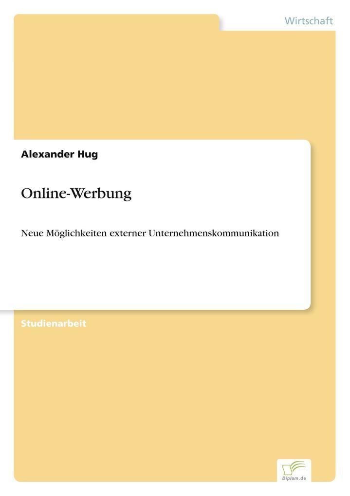 Online-Werbung als Buch von Alexander Hug