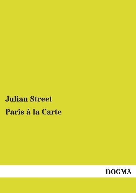 Paris à la Carte als Buch (gebunden)