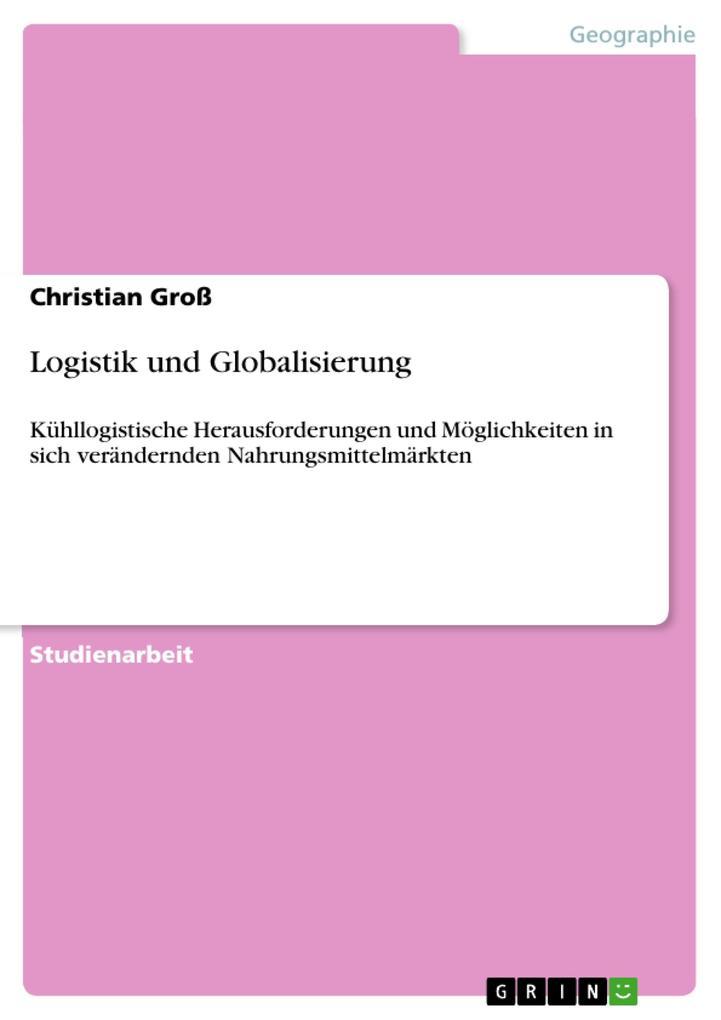 Logistik und Globalisierung als eBook pdf