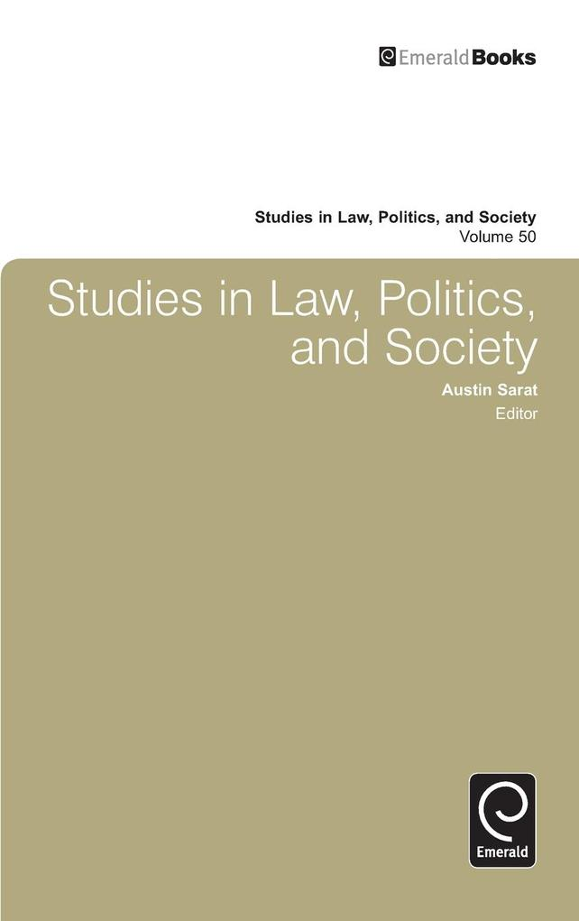 Studies in Law, Politics, and Society, Volume 50 als Buch (gebunden)