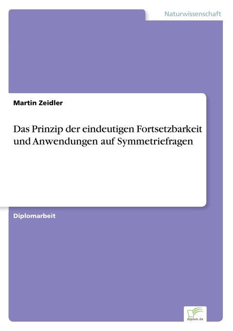 Das Prinzip der eindeutigen Fortsetzbarkeit und Anwendungen auf Symmetriefragen als Buch (gebunden)