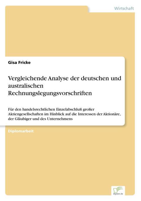 Vergleichende Analyse der deutschen und austral...