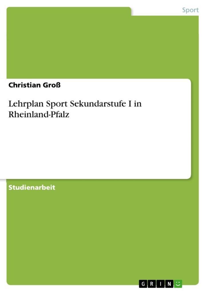Lehrplan Sport Sekundarstufe I in Rheinland-Pfa...