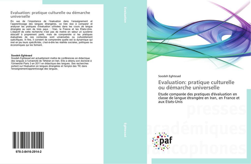 Evaluation: pratique culturelle ou démarche universelle als Buch (gebunden)